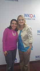 Dr. Christine Bacon with her guest Erika Garcia