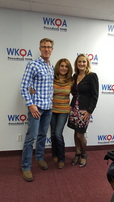 Super Couple Rob and Maggie Birmingham (left and center) with host Dr. Christine Bacon, author of