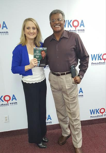 Guest and author Dr. Jerry Gaines with host Christine Bacon Ph.D at the WKQA 1110