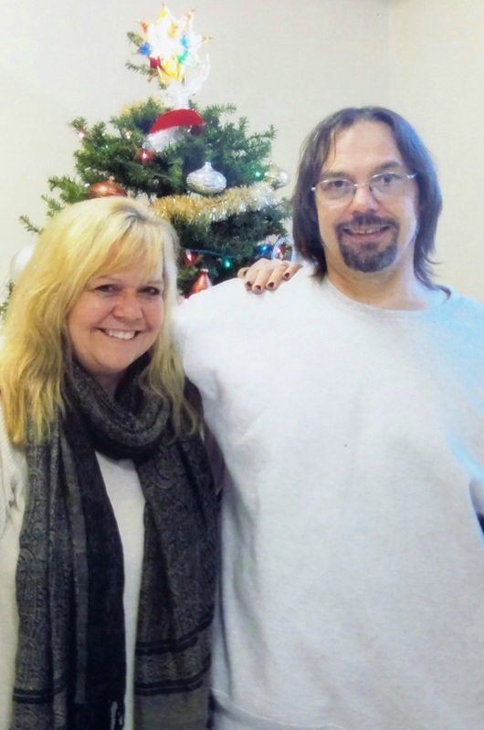 Dr. Cathy Speckmann and her brother Danny during a recent prison visit where he's never been freer in his life.