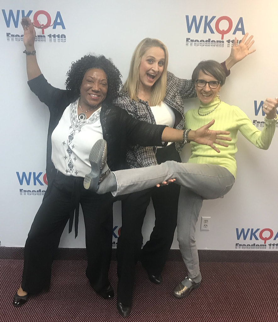 Dr. Bacon and her guests having fun posing at the WKQA studios in Virginia.