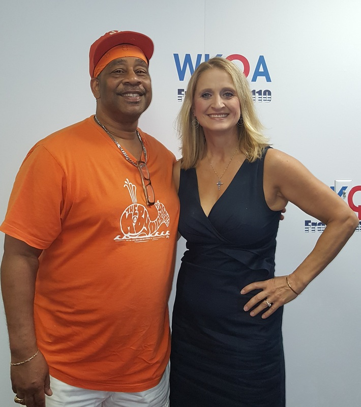 Guest Reynard Boyce with host Dr. Christine Bacon at the WKQA studios.