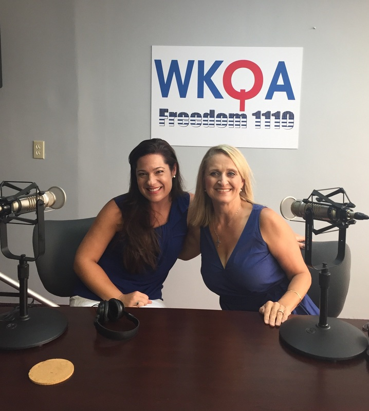 Guest and Life Coach Stephanie Danner with host Dr. Christine Bacon at the WKQA studios.